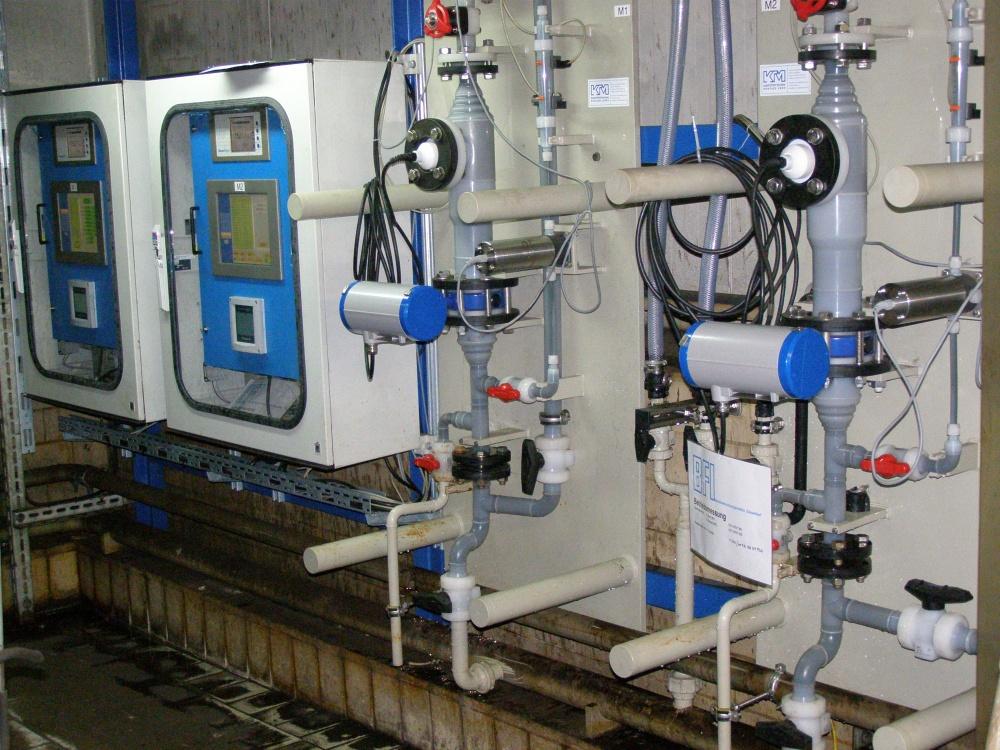 Betriebliche Installation der DynAcid Messtechnik