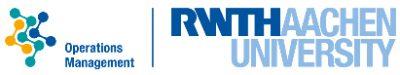 RWTH Aachen, Lehrstuhl für Operations Management