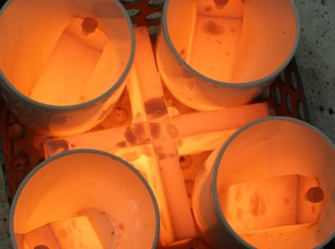 Probenkorb für Screeningtests im Labormaßstab