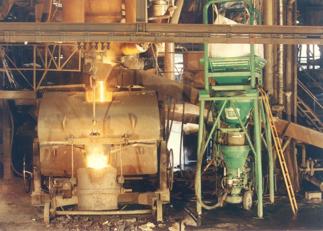 Injektion von Kohlenstoffträgern in den Kupolofen