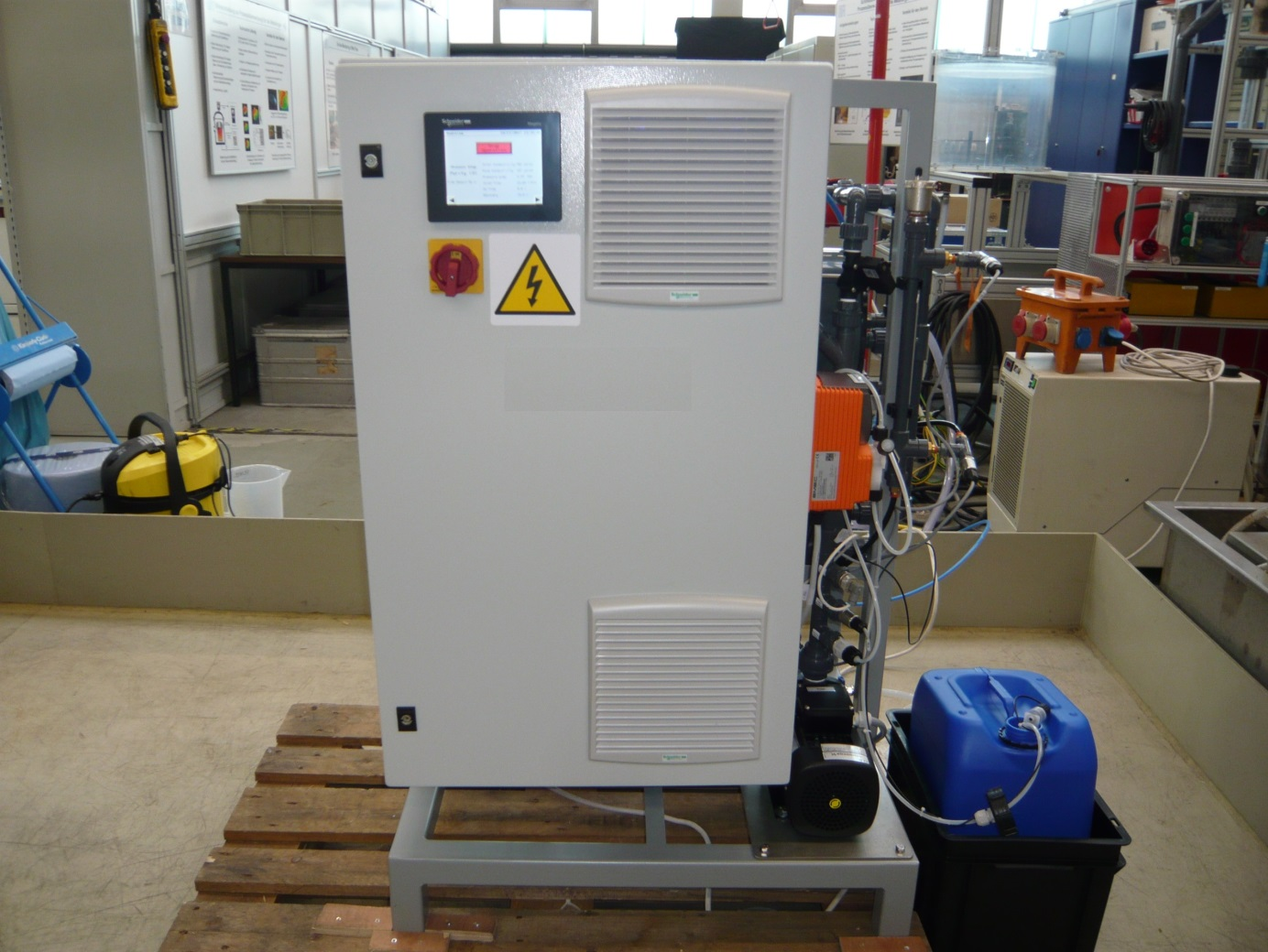 Pilot CDI in BFI technical centre (max. flow rate: 840 l/h)