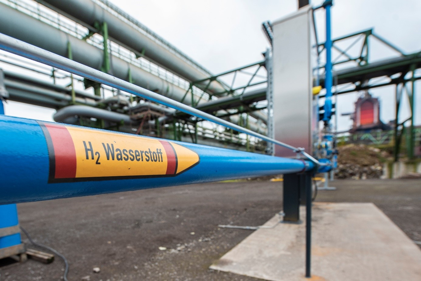 Hydrogen for a low CO2 steel production